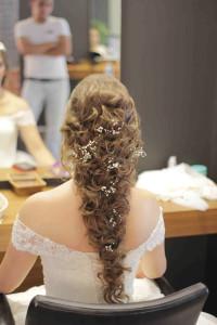 gelin saçı doğal